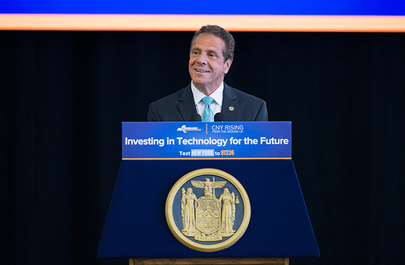 Governor Cuomo at podium