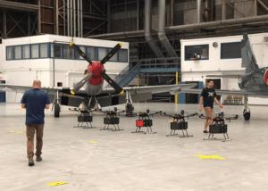Flytrex Drones in Hanger