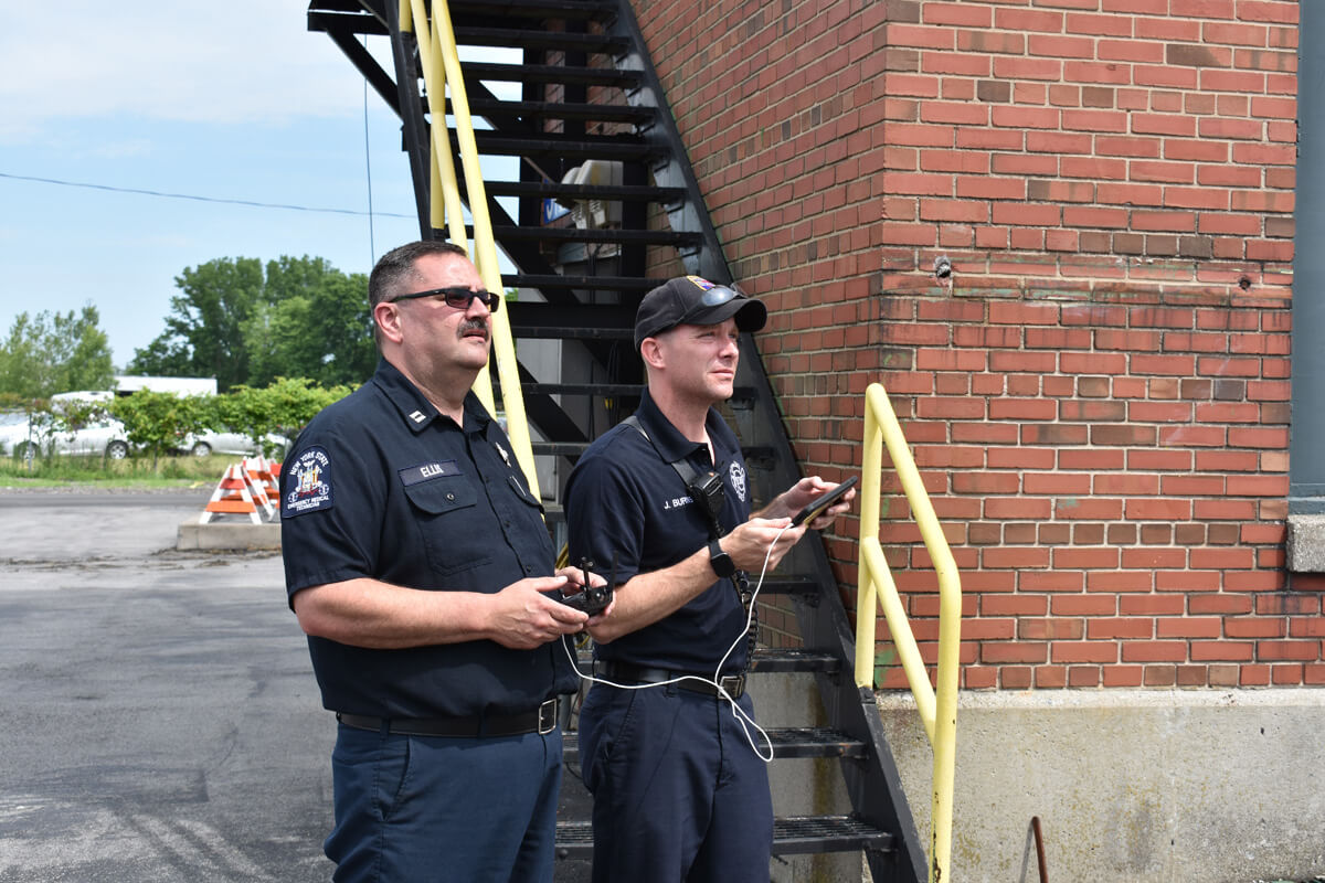 Syracuse Fire Department Flying Drone