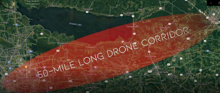 50-Mile Drone Corridor