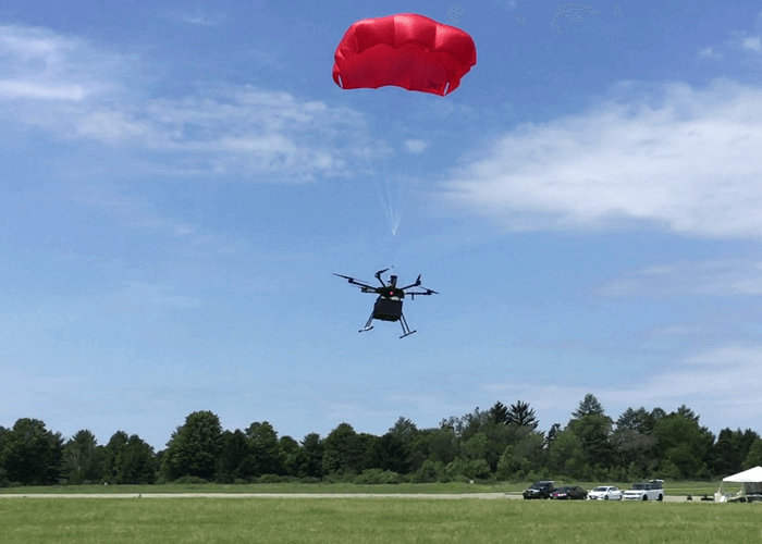 Drone Parachute Deployed