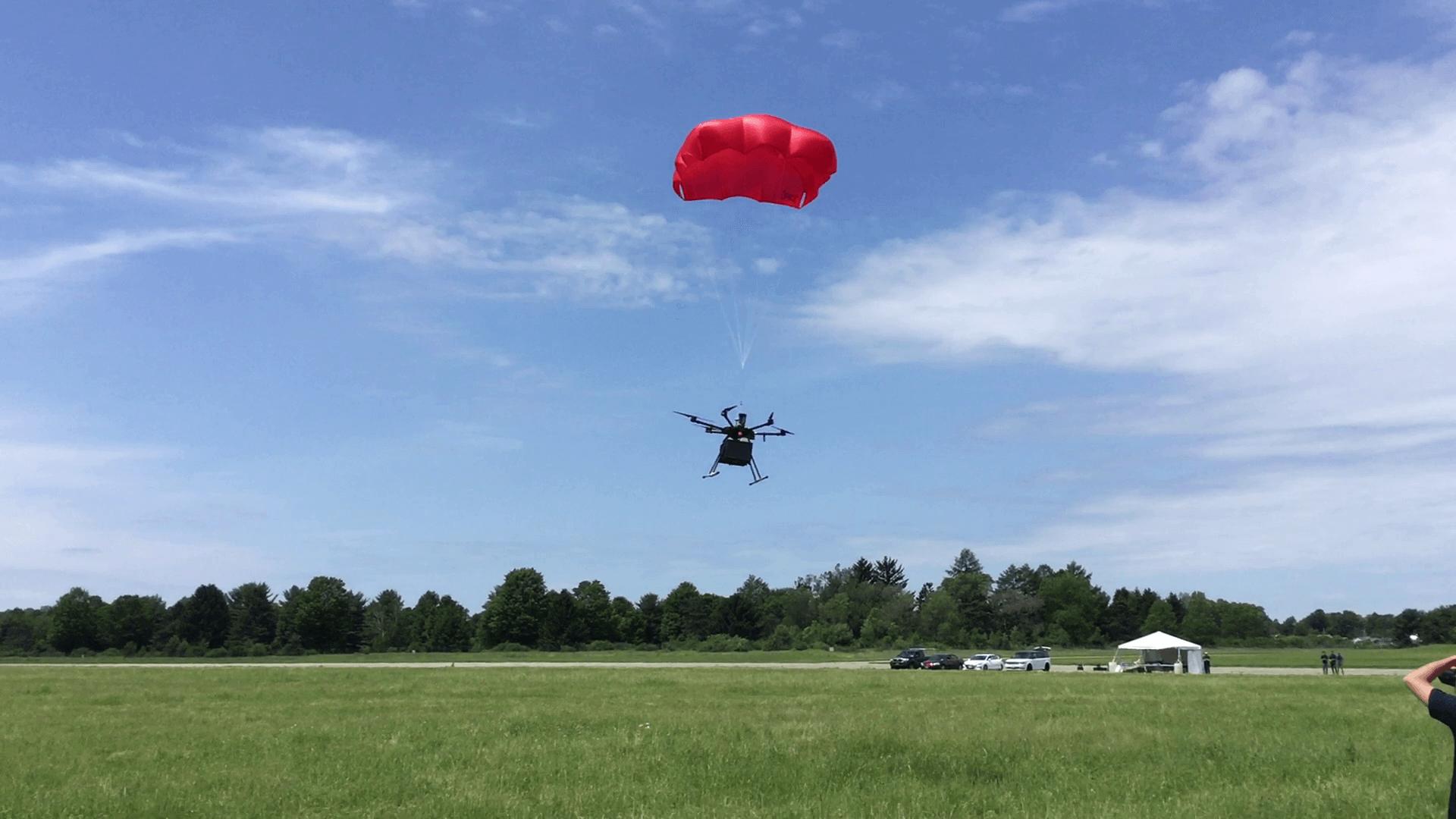 Flytrex Parachute Deployed