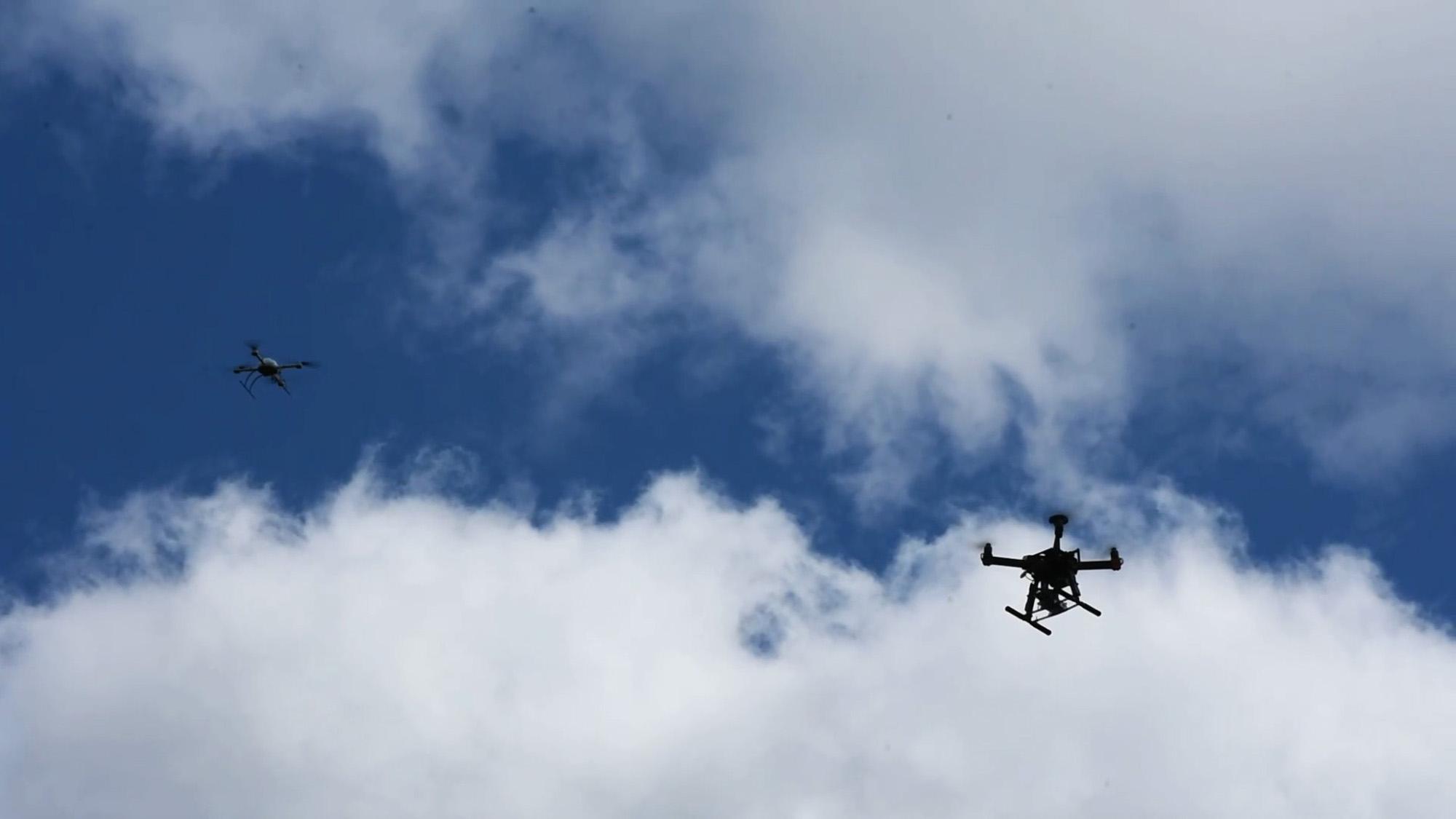 2 NUAR Drones In Air