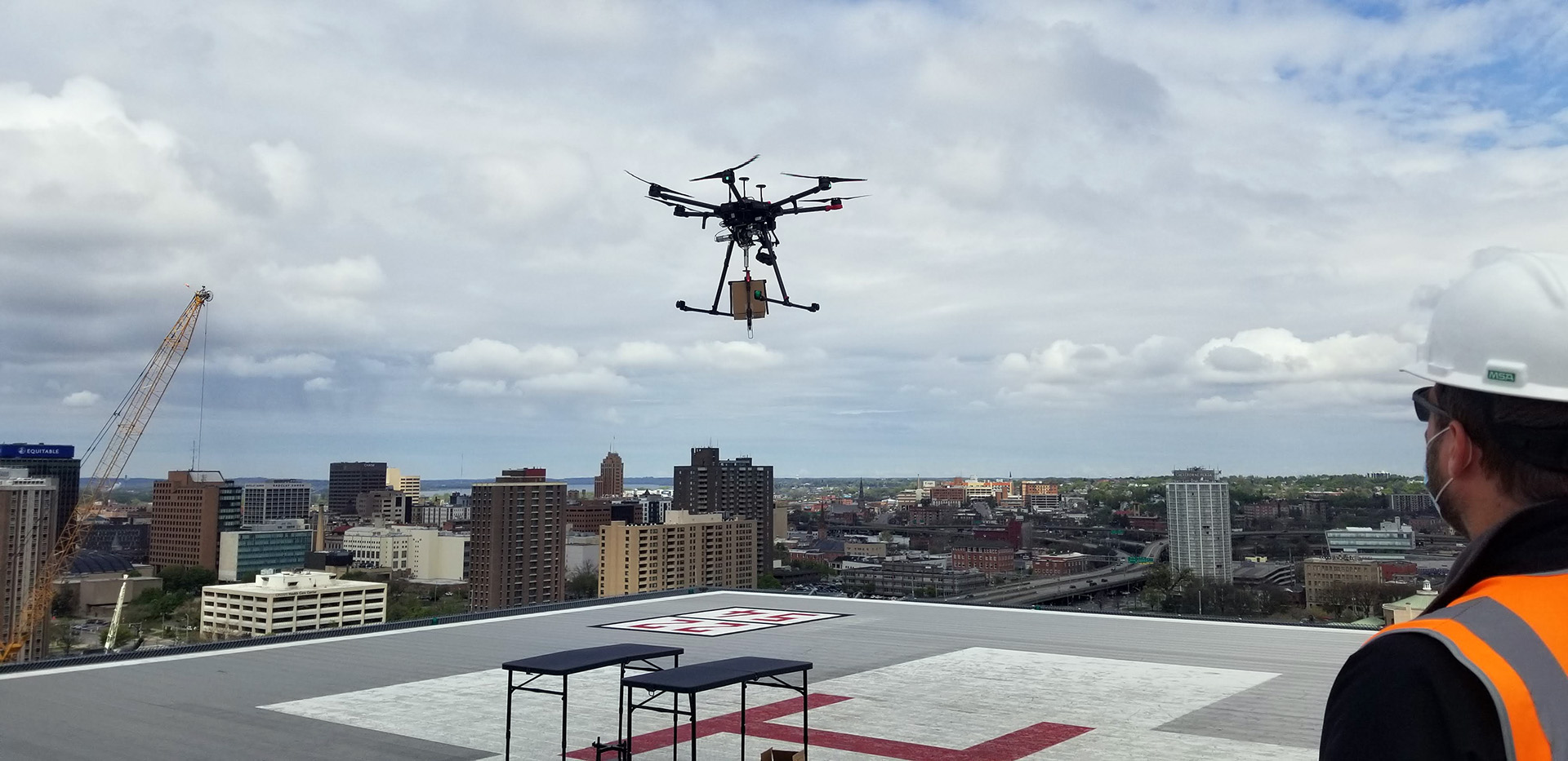 Drone Delivery Over Syracuse