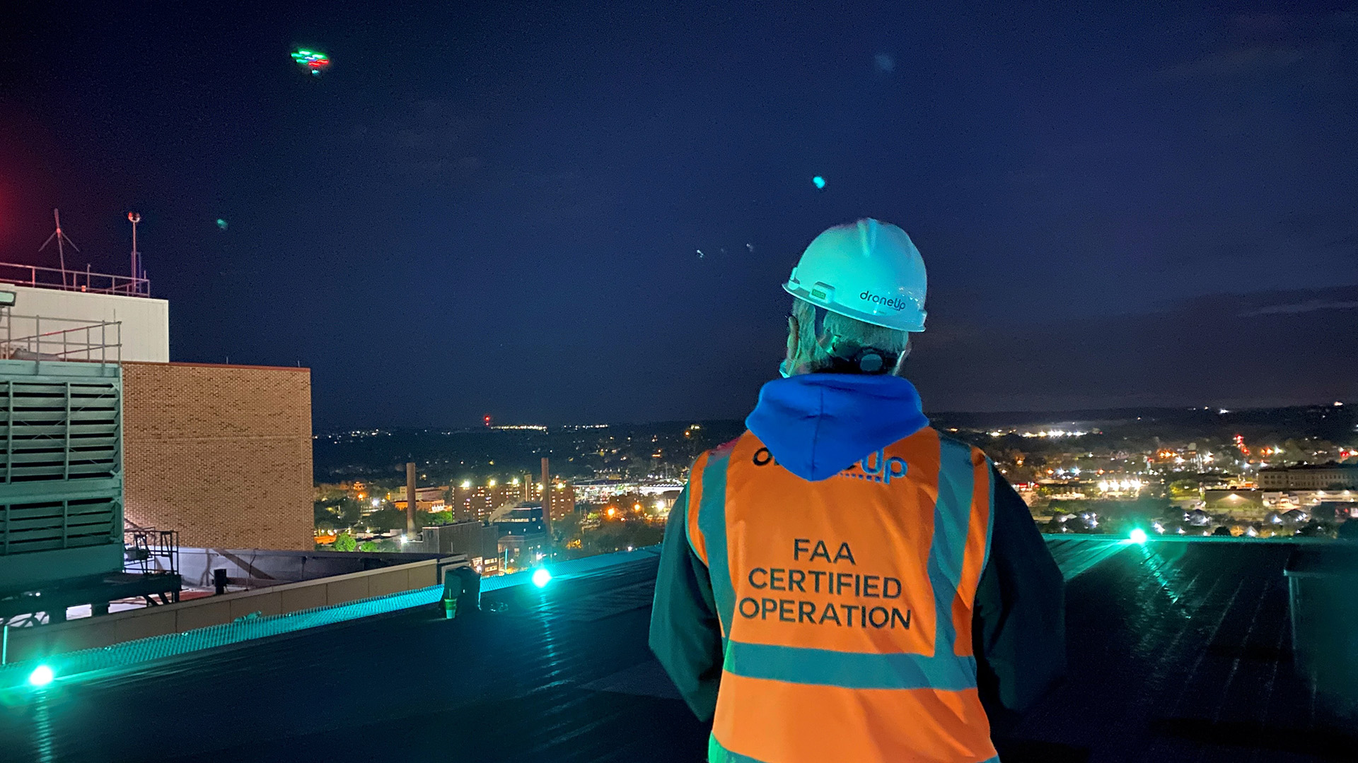 Drone Medical Delivery at Night