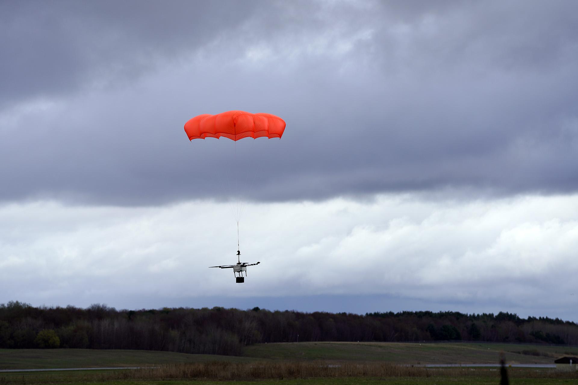 AVSS Parachute Deployed on Horsefly Drone